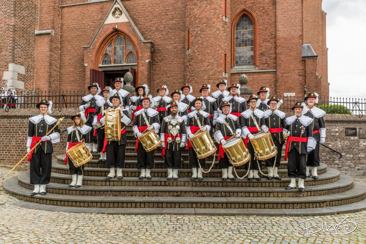 Het jubilerende muziekkorps